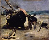 Edouard Manet Tarring the Boat painting