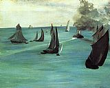 Edouard Manet The Beach at Sainte-Adresse painting
