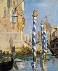 Canal Canvas Paintings - The Grand Canal Venice