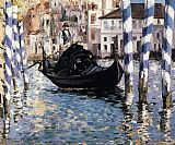 Canal Canvas Paintings - The Grand Canal, Venice I
