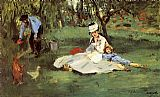 Edouard Manet The Monet Family In The Garden painting