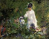 Edouard Manet Young Woman among the Flowers painting