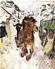 Edvard Munch Horse galloping 1912 painting