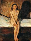 Edvard Munch Puberty 1894 painting