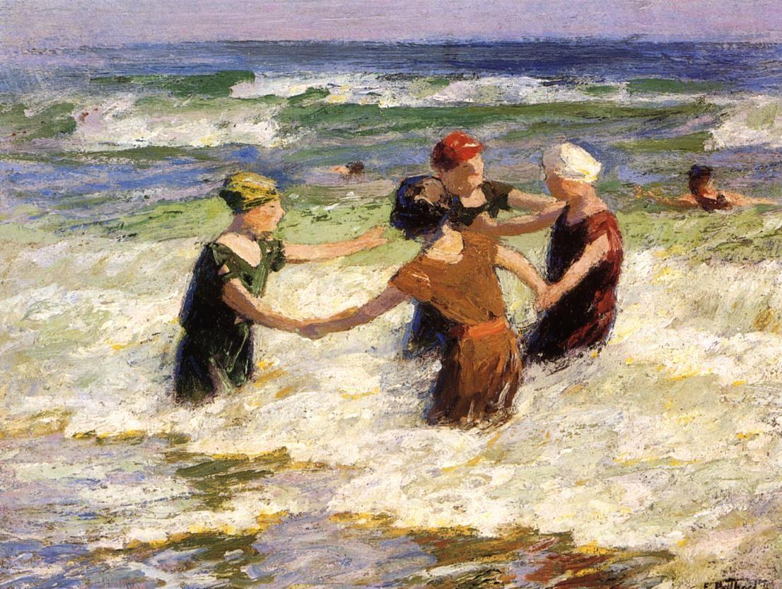Edward Henry Potthast A Happy Group