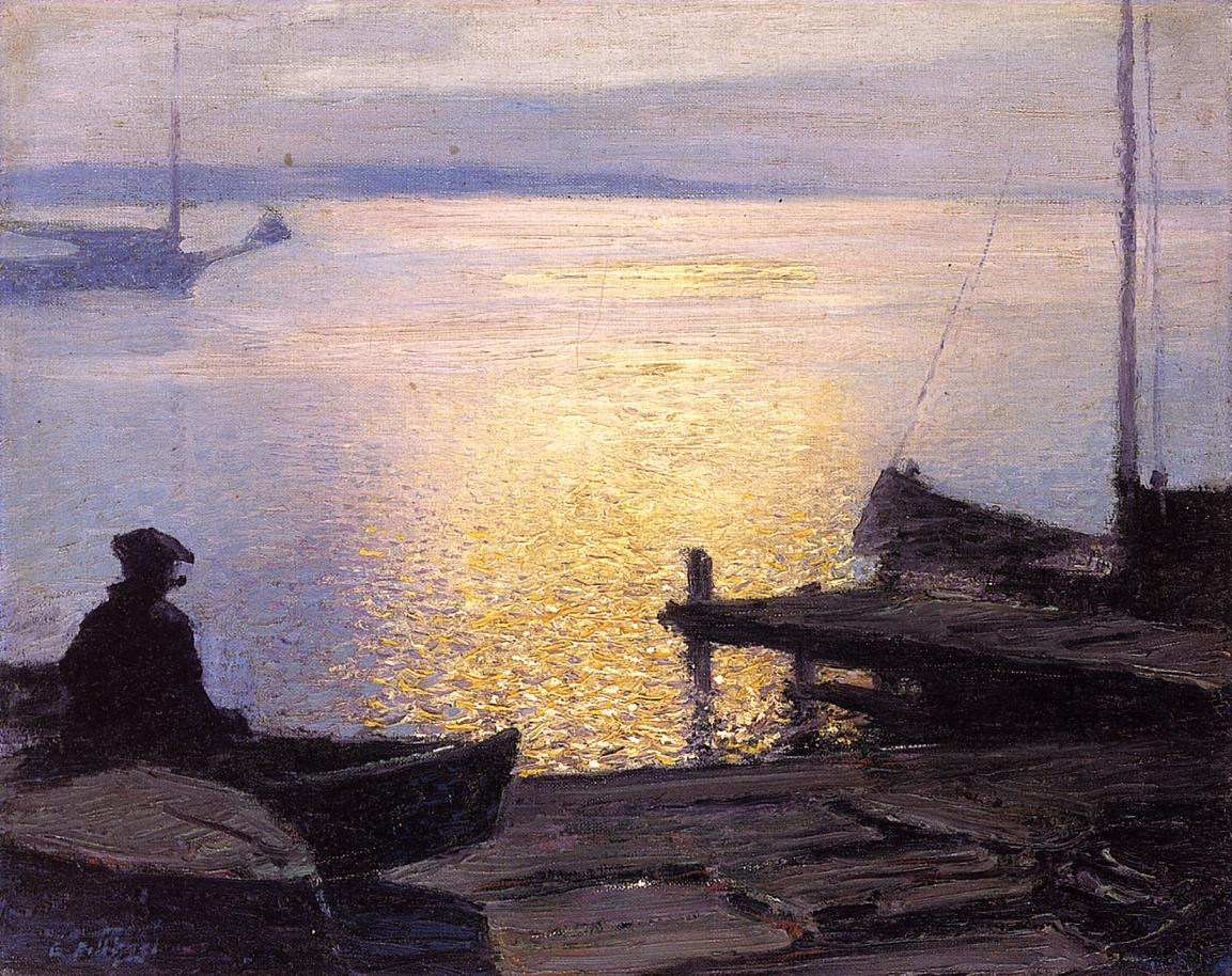 Edward Henry Potthast Along the Mystic River