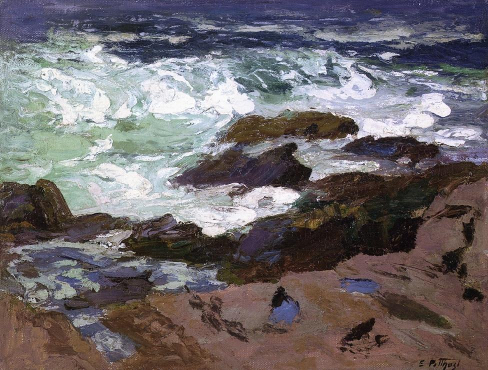 Edward Henry Potthast Wild Surf Ogunquit Maine