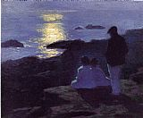 Edward Henry Potthast Famous Paintings - A Summer's Night
