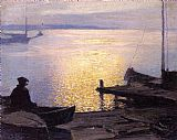 Edward Henry Potthast Famous Paintings - Along the Mystic River