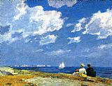 Edward Henry Potthast Canvas Paintings - Along the Shore