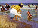 Edward Henry Potthast Famous Paintings - At the Seashore