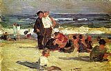 Edward Henry Potthast Beach Scene 3 painting