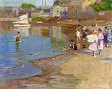 Famous Children Paintings - Children Playing at the Beach