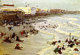 Edward Henry Potthast Famous Paintings - Coney Island
