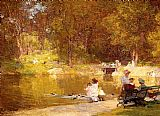 Edward Henry Potthast Famous Paintings - In Central Park