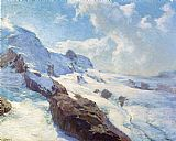 Edward Henry Potthast Canvas Paintings - In Cloud Regions