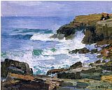Edward Henry Potthast Famous Paintings - Looking out to Sea