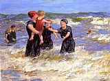 Edward Henry Potthast Famous Paintings - Making Friends