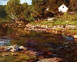 Edward Henry Potthast Canvas Paintings - Souvenir of Canada