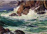 Edward Henry Potthast Canvas Paintings - Stormy Seas