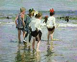 Edward Henry Potthast Wall Art - Summer Day Brighton Beach