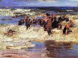 Edward Henry Potthast Wall Art - Surf Bathing