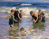 Edward Henry Potthast Wall Art - The Bathers