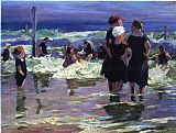 Edward Henry Potthast Wall Art - The Gossips