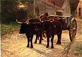 Edward Henry Potthast Famous Paintings - The Ox Cart