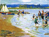 Edward Henry Potthast Wall Art - The White Sails