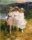 Edward Henry Potthast Wall Art - Walking in the Hills