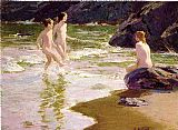 Edward Henry Potthast Famous Paintings - Young Bathers