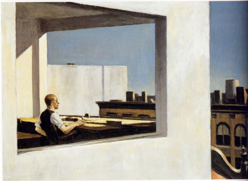 Edward Hopper Office in a Small City