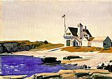 Famous Coast Paintings - Coast Guard Station, Two Lights, Maine