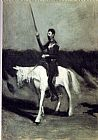 Edward Hopper Don Quixote on Horseback painting