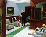 Edward Hopper Hotel Lobby painting