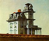 Edward Hopper Famous Paintings - House by the Railroad