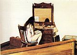 Edward Hopper Interior Model Reading painting