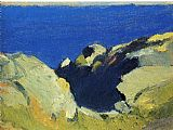 Edward Hopper Rocks and Sea painting