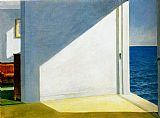 Edward Hopper Rooms by the sea painting