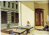 Edward Hopper Sunlight in a Cafeteria painting