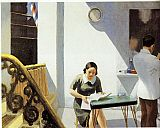 Edward Hopper The Barber Shop painting