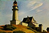 Edward Hopper Wall Art - The Lighthouse at Two Lights