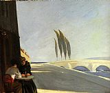 Edward Hopper The Wine Shop painting