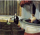 Edward Hopper Two on the Aisle painting