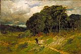 Edward Mitchell Bannister Canvas Paintings - Approaching Storm