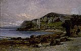 Edward Mitchell Bannister Wall Art - Rocks at Newport