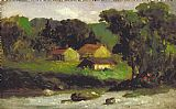 Edward Mitchell Bannister Wall Art - Rocky Farm, Newport