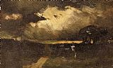 Edward Mitchell Bannister Wall Art - The Storm