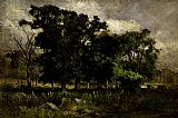 Edward Mitchell Bannister Wall Art - Tree Landscape